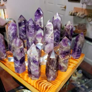 Chevron Amethyst Points Group A